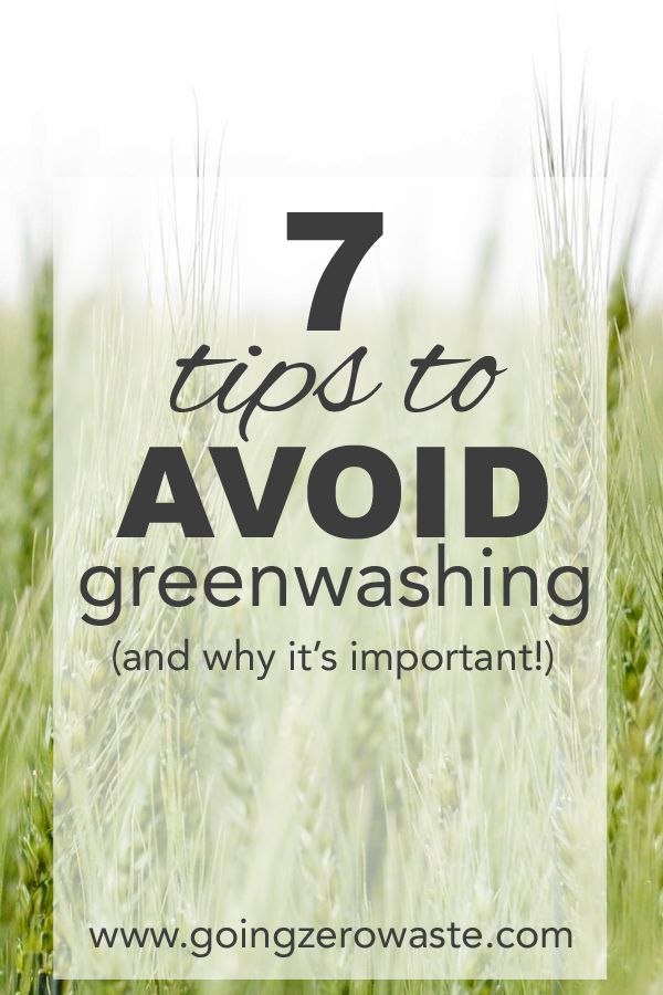 We've talked a lot about greenwashing on this blog, but we haven't fully  delved into what it is and how to avoid it.   what is greenwashing?   Greenwashing is when a product or business says they're green or  eco-friendly, but they spend more resources on making sure you know that,  rather t