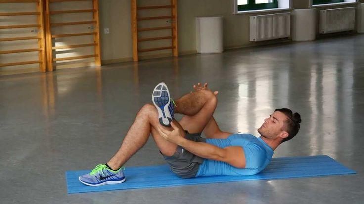 Ćwiczenia na ból pleców - Rozciąganie mięśni kulszowo-goleniowych, pośla...