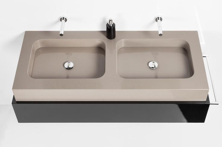 Lavabo exclusive doble seno bathroom pinterest bath - Lavabos doble seno ...