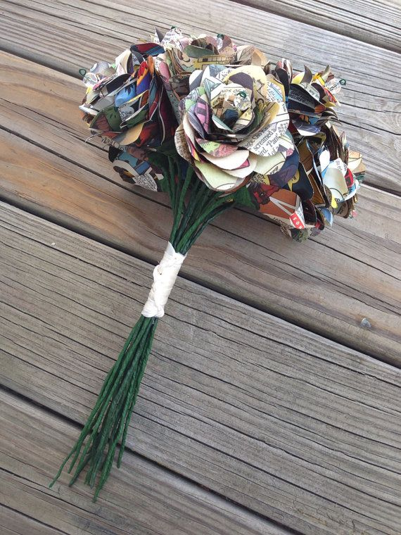Comic Book Bridal Bouquet - Bouquet made from Comic Books