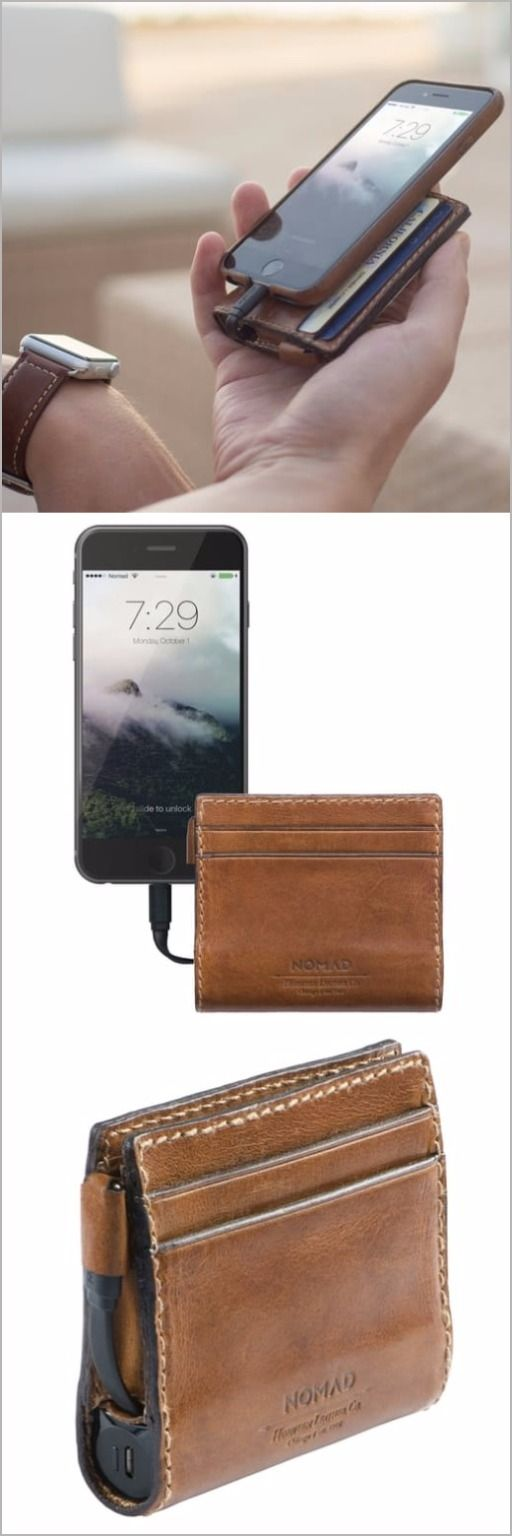 Nomad Slim Horween Leather Charging EDC Everyday Carry Wallet for iPhone
