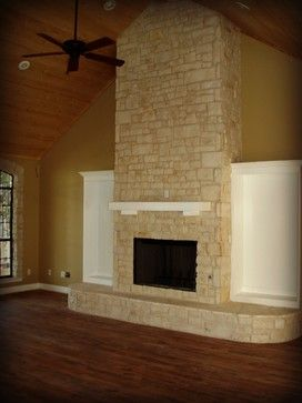 Austin Stone Fireplace Wright Built Home Fireplace