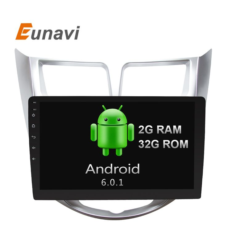 Eunavi 2 din Quad Core 1024*600 Android 6.0 Car GPS Player For Solaris Verna Accent Car PC Headunit Car Radio Video Player Navi  #Affiliate