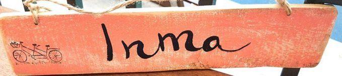 """Palet pintado a mano con Nombre """"Inma"""""""