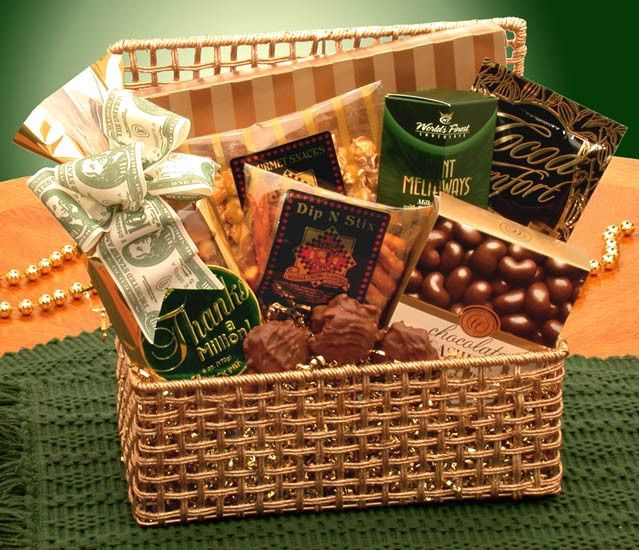 Thank You Glittering Gold Gift Basket