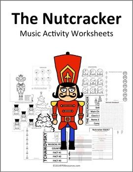 Currently 13 music activity worksheets that go along with The Nutcracker theme.Includes:-Coloring page-Color the Mouse King- Rhythms-Nutcracker Time Signatures-Christmas Tree/Present Interval Matching-Sugar Plum Fairy Keyboard Matching-Snowflake Step and Skips-Nutcracker Musical Math-Christmas Tree Symbols-Wordsearch-Nutcracker SQUILT-Interactive Journal- Tchaikovsky -Interactive Journal- The Nutcracker-Music Composition Pages (3 choices)Have a suggestion of a worksheet you would like…
