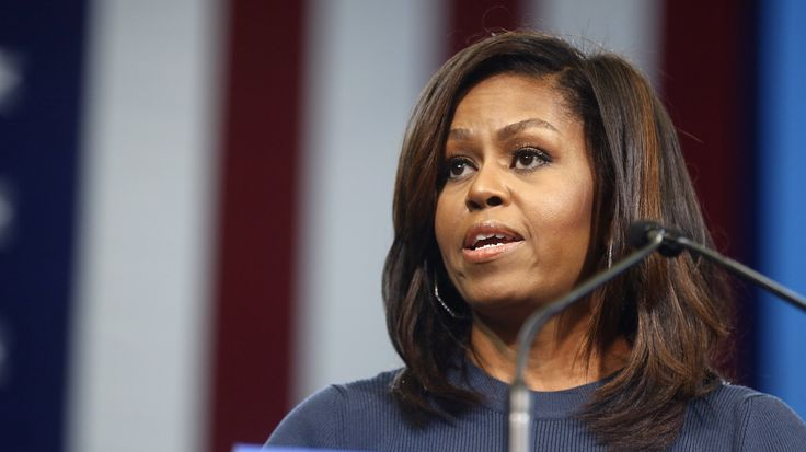"""Michelle Obama spoke today at a Hillary Clinton event in New Hampshire and addressed Donald Trump's comments on women, saying 'it has shaken me to my core."""""""