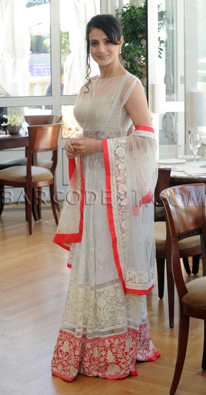 Ameesha Patel in white anarkali suit #salwaar kameez #chudidar #chudidar kameez #anarkali #anarkali suits #dress #indian #hp #outfit #shaadi #bridal #fashion #style #desi #designer #wedding #gorgeous #beautiful