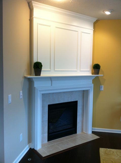Corner fireplace designs with tv above woodworking for Building a corner fireplace