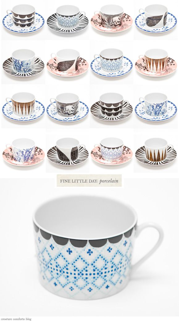 projects idea unique tea cups. borrow patterning ideas  draw on white mugs with food safe paint pen porcelain from fine little day 509 best Coffee Mugs images Pinterest Dishes and