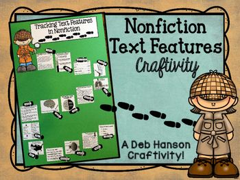 This activity puts a fun spin on identifying nonfiction text features!  It also makes a creative bulletin board or school hallway display!  It can even be used as a valuable addition to your students' interactive notebooks!  Students begin by completing the worksheet where they identify the following 18 text features:Table of ContentsTitle PageGlossaryIndexPhotographIllustrationCaptionDiagramLabelMapTimelineWords in BoldWords in ItalicsBulleted WordsHeadingSubheadingChartTextboxThen they…