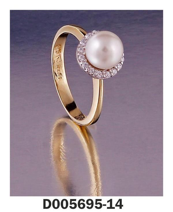 Ring Yellow Gold k18 and k14 Stones: Pearl, Diamonds