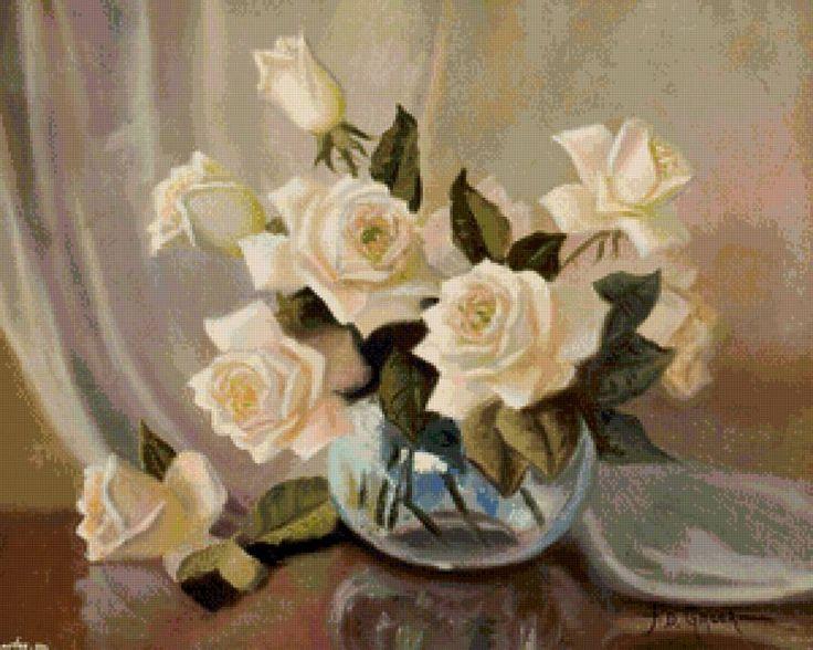 кремовые розы, предпросмотр
