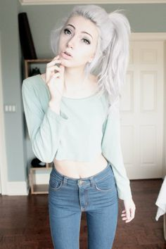Teen With White Hair 102