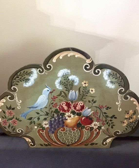Shabby Chic Fireplace Cover Hand Painted Fireplace Screen Wood
