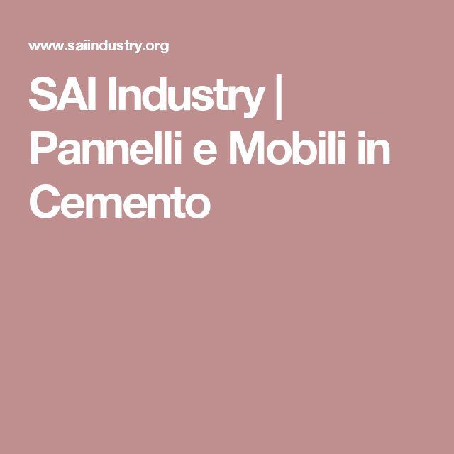 SAI Industry | Pannelli e Mobili in Cemento