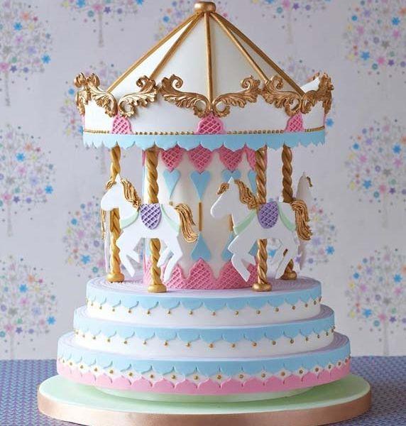Pretty Pastel Carousel Cake