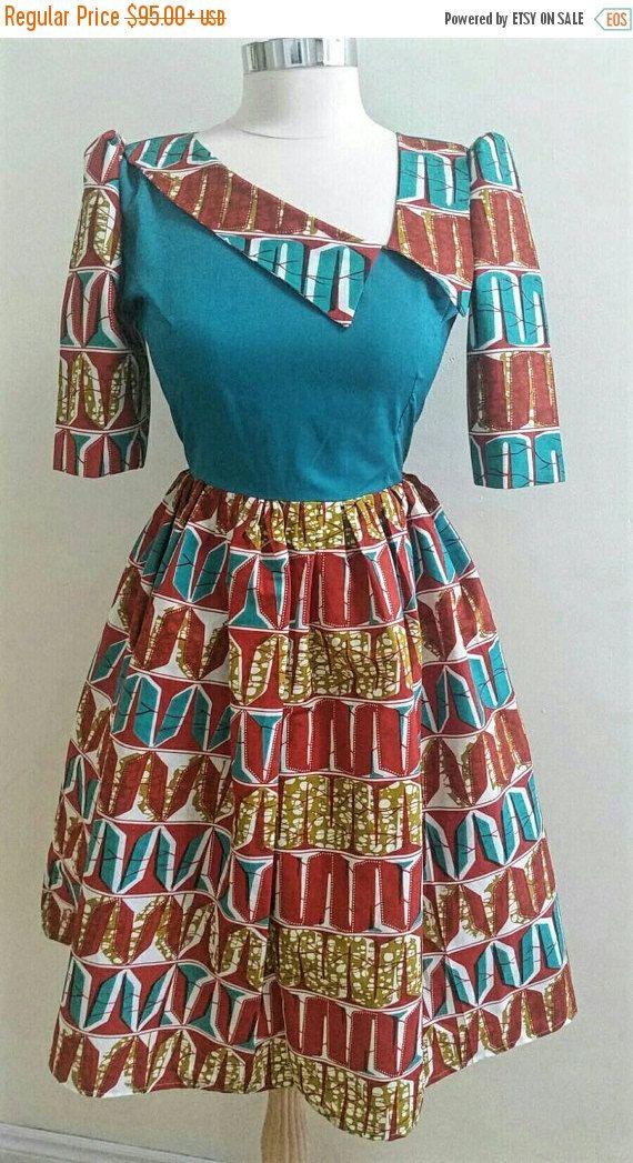 VENTE africain impression Ankara robe African par JENNYROSSY
