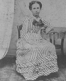 "Alvira ""Allie"" P Sullivan, Virgil's Earp's future wife, at age 16. They met in Council Bluffs, Iowa, when she was 25 in 1874."