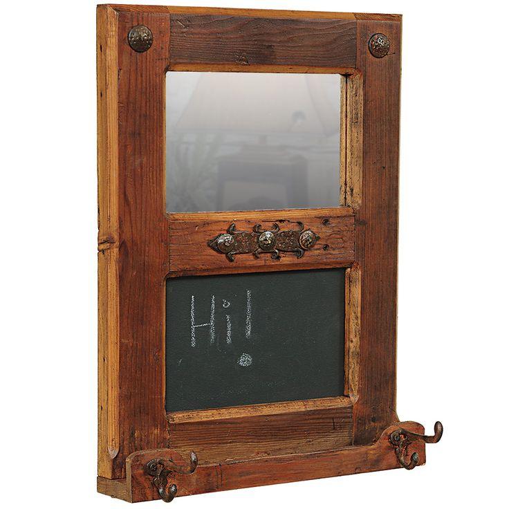 Rustic Wood Mirror Chalkboard Bling Bathroombathroom