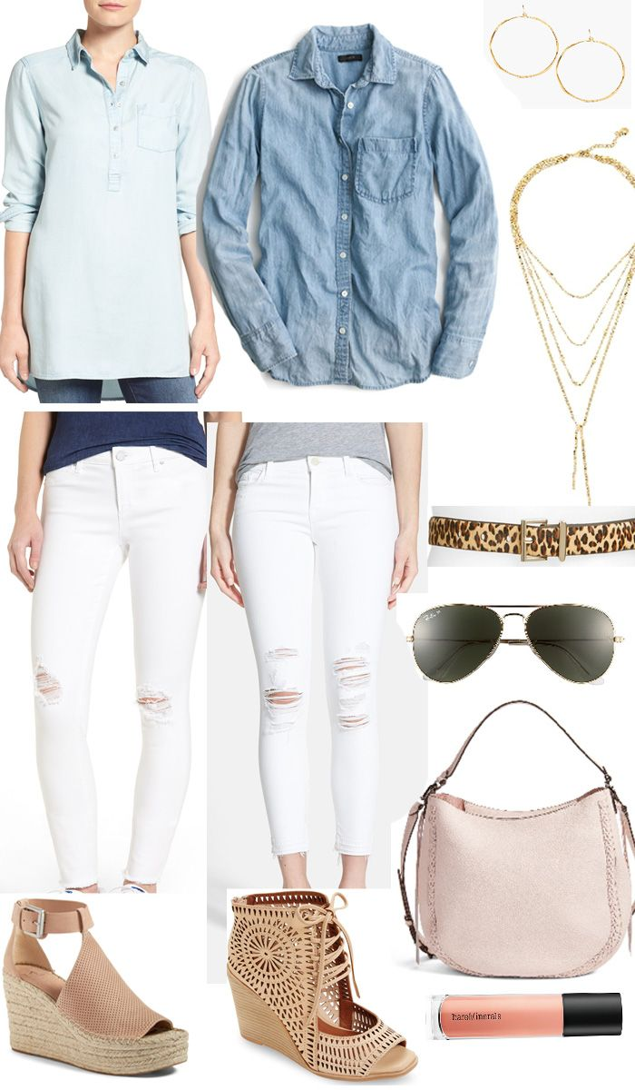 How to pair chambray and white denim for a chic Spring look // Style Board Series: Volume 1   Week 6   Style Your Senses