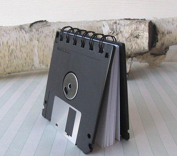 Recycled Geek Gear Blank Floppy Disk Mini Notebook by Fishstikks, $5.50
