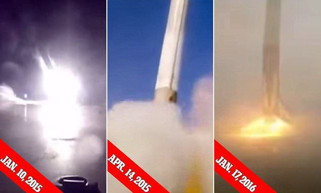 Getting there! Video shows SpaceX's three failed barge landings