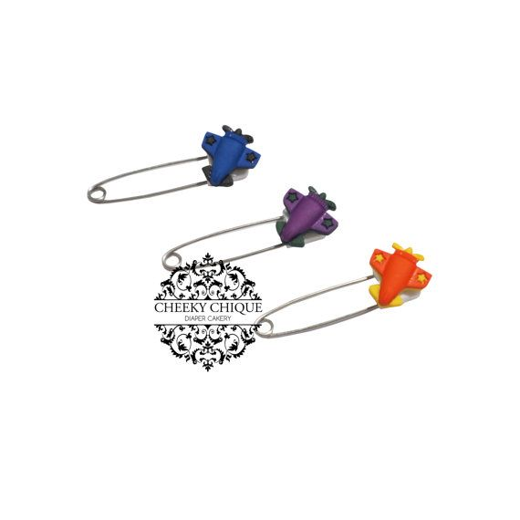 Airplane Diaper Pins by Cheeky Chique Baby, $5.25