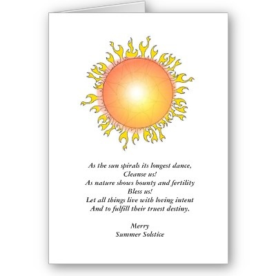 summer solstice blessing greeting card symbols myth summer