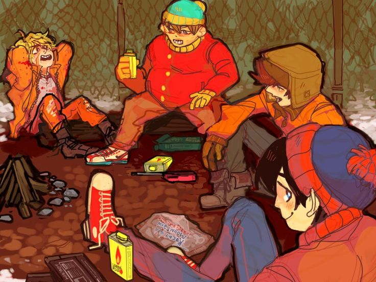 Kenny Cartman Kyle and Stan -South Park