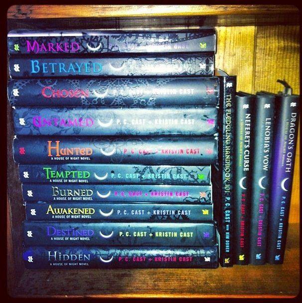 House of Night Series. still need to get the last like...6 books -.-