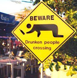 """sign near """"Two baboon"""" bar"""