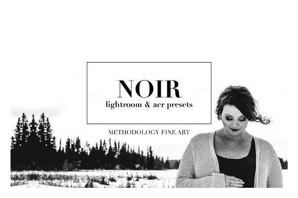 Noir, B&W Lightroom & ACR Presets by Methodology Photography on @creativemarket
