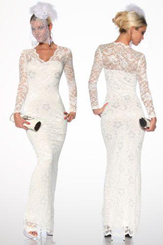 ATX-Elegantes-Maxikleid-Kleid-Abendkleid-Partykleid-Spitze-Lang-34-36-38-40