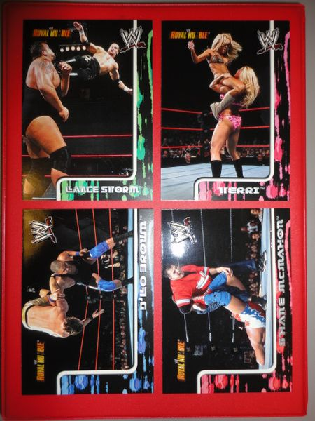** 4 OLD 2002 Fleer WWE/WWF Royal Rumble Cards / Shane BIGSHOW D'Lo & more **