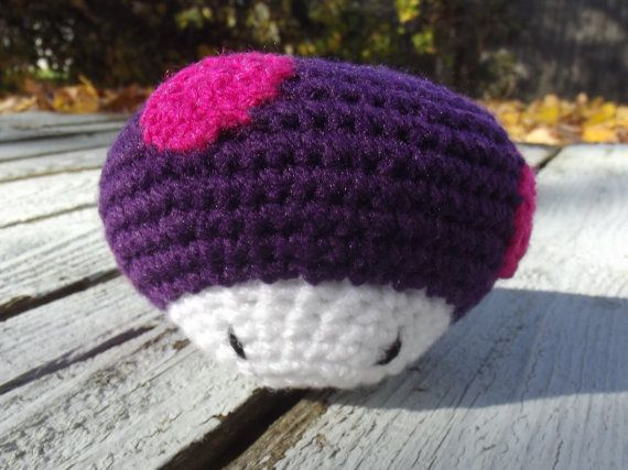 Poison Mario Inspired Mushroom  or Any Color by CraftCoalition