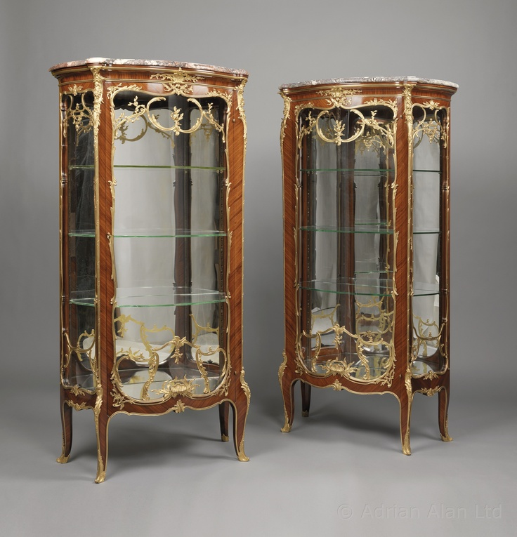 A Very Fine Pair of Antique Louis XV Style Gilt-Bronze Mounted Kingwood  Vitrines. - 165 Best Rococo Furniture And Accessories Images On Pinterest