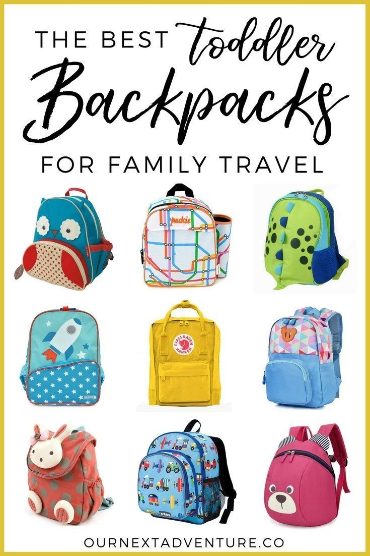 Toddler-friendly backpacks that are perfect for a family trip.    Family  Travel  6b60bb055532c