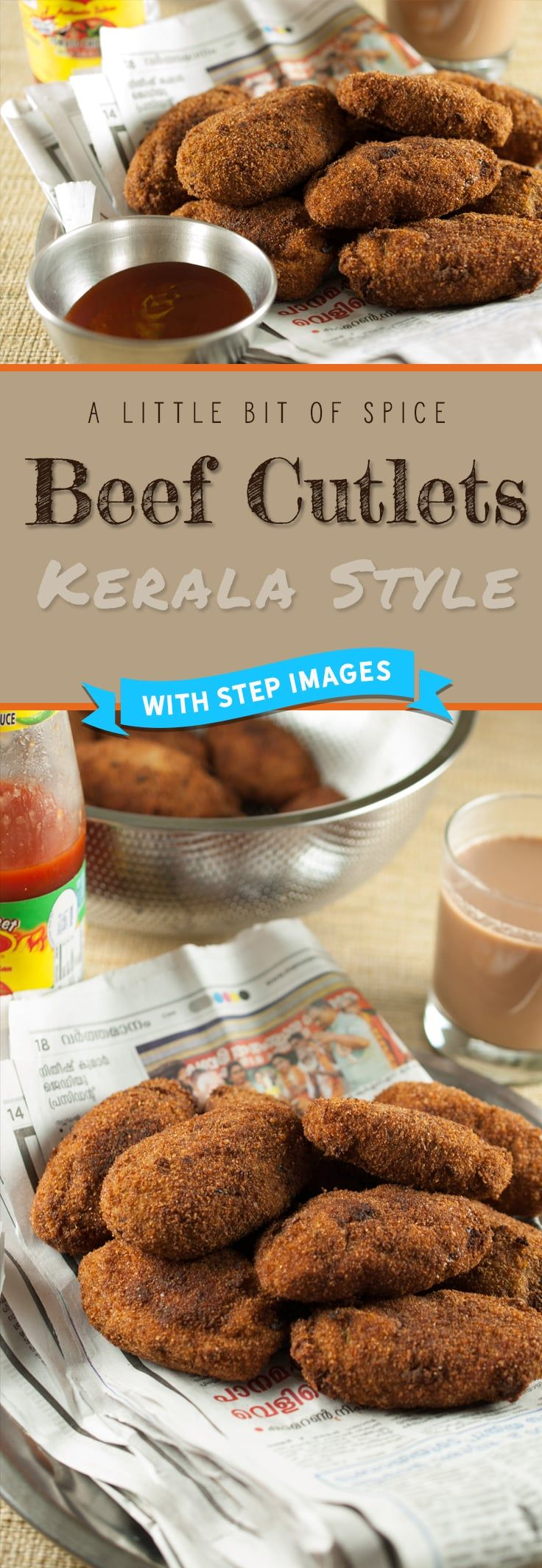 Beef cooked with spices, dipped in an egg mix and then in breadcrumbs and fried. An appetizer which is never missed out at parties especially in a Kerala Christian home. #beef #beefcutlet #cutlet #croquette
