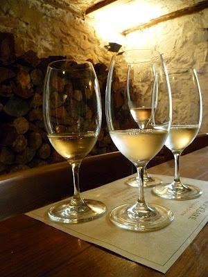 Wines at RockBare Cellar Door.