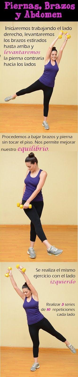 Rutinas de ejercicios para piernas, brazos y abdomen #Ejercítate