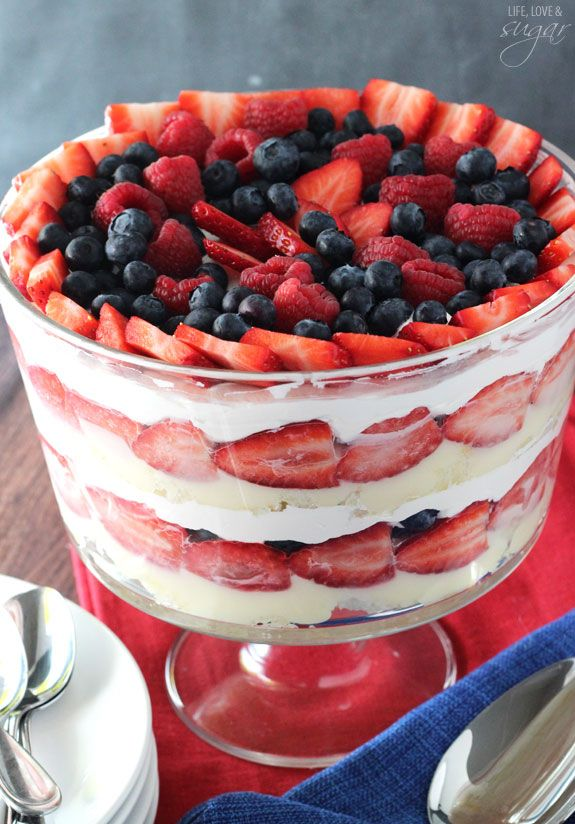 ... Berry Trifle on Pinterest | Fruit trifle desserts, Angel food trifle