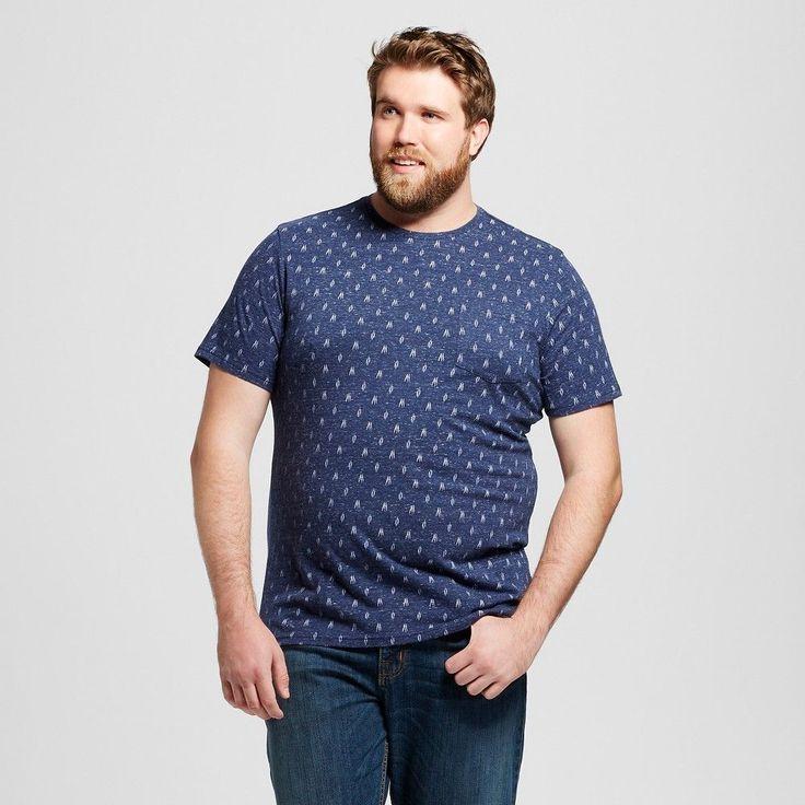 Men's Big & Tall Crew Neck T-Shirt Navy Xxlt - Mossimo Supply Co., Size: Xxl Tall, Stargaze Navy