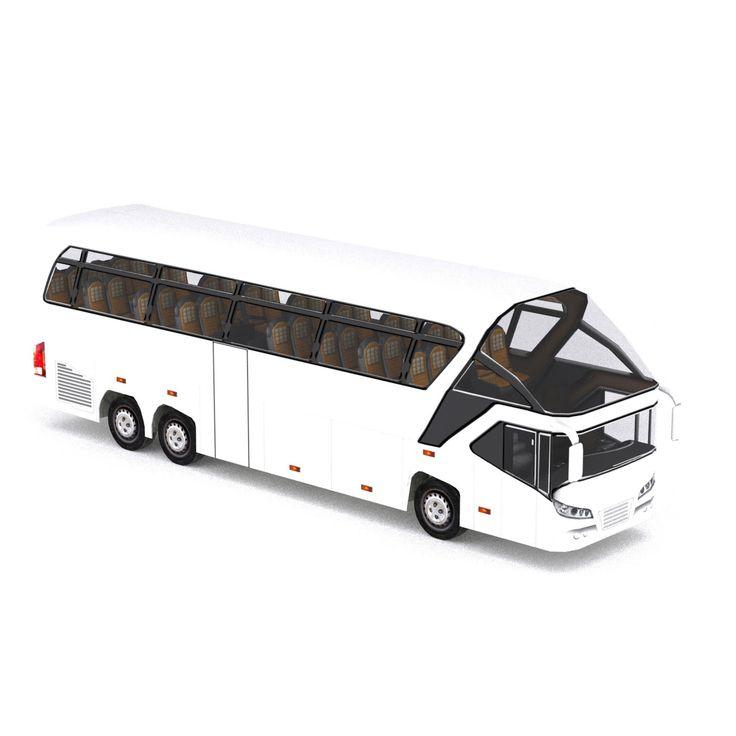 coach bus 3d max