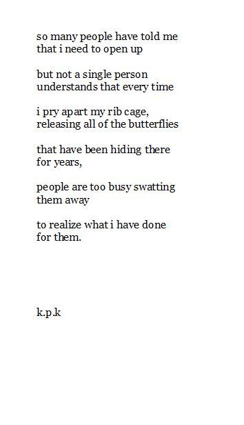 I pry apart my rib cage