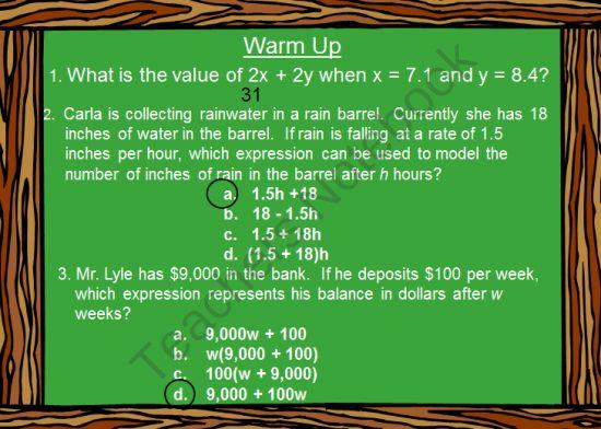 7th grade math mixed review worksheets