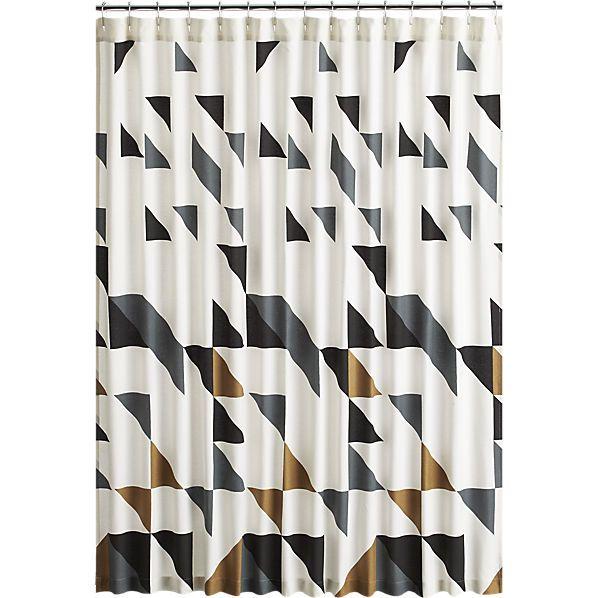 triangle shower curtain  | CB2 40.00
