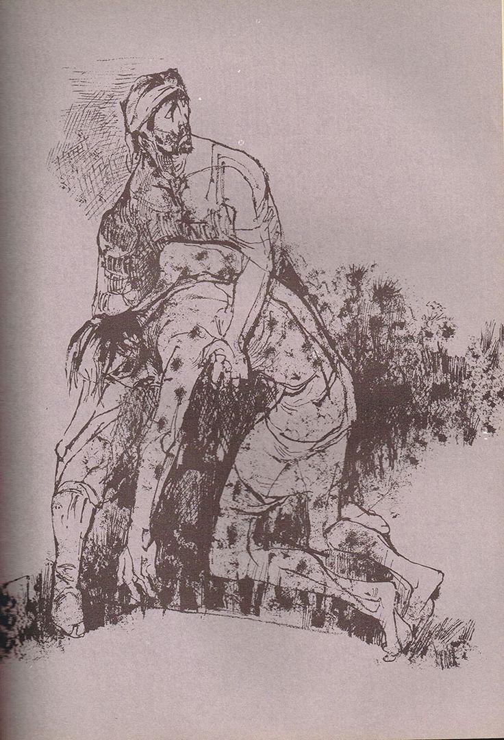 Del archivo de la Universidad de Buenos Aires ilustración del Martín Fierro de Juan Carlos Castagnino