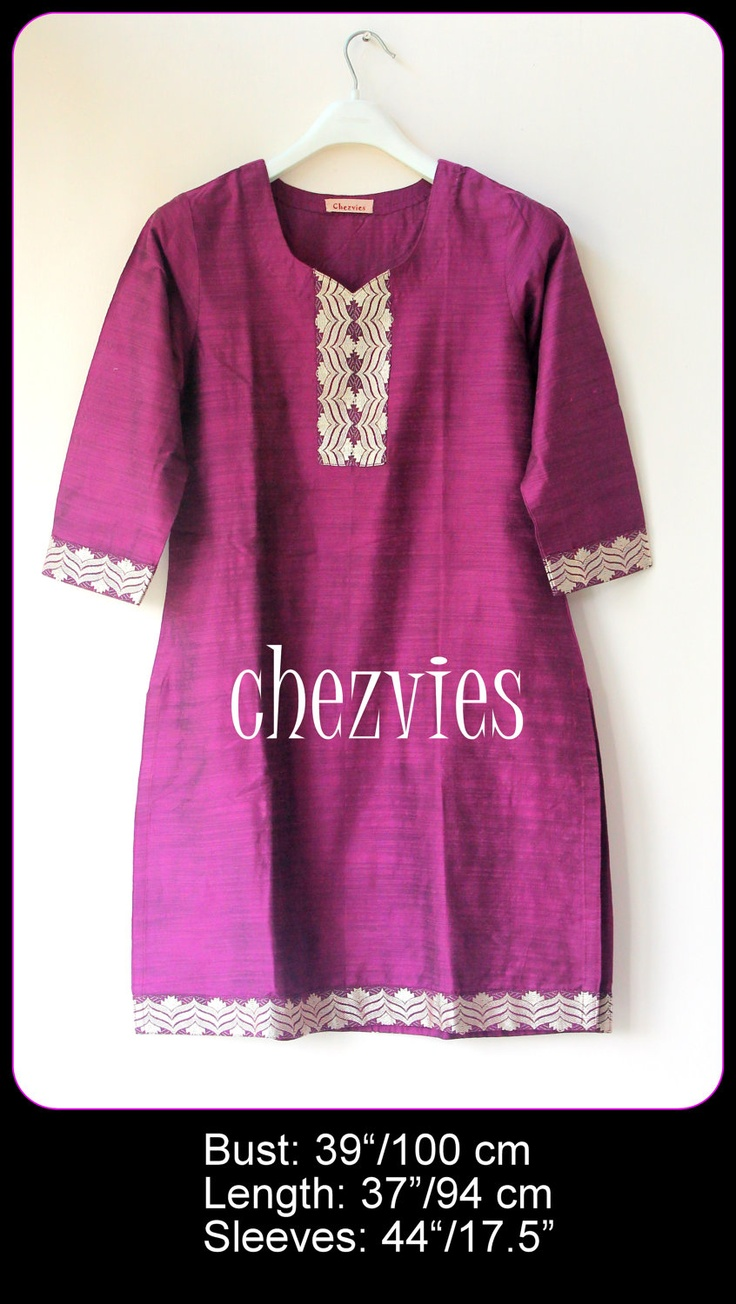 Cotton Silk Indian Tunic by chezvies on Etsy. , via Etsy.