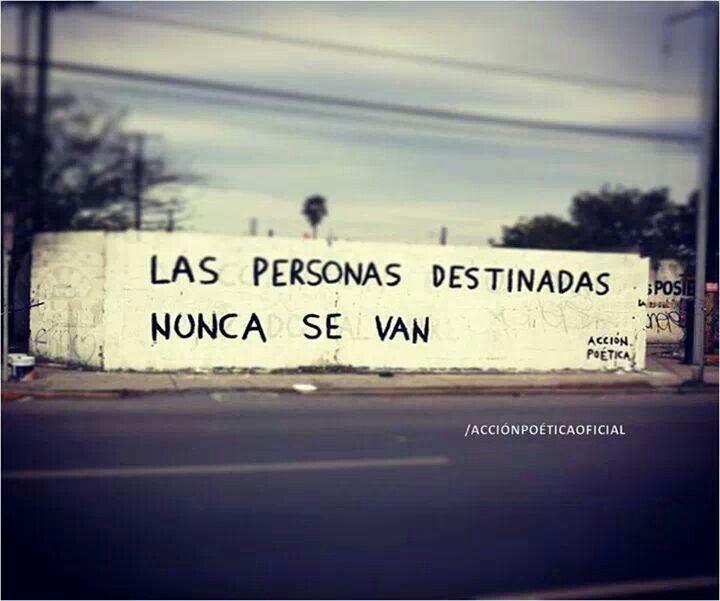 Las personas destinadas nunca se van. #frase